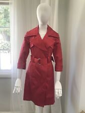 Bebe Magenta Trench Spring Coat Women Jacket Formal Size S RN# 86017 Great Condi
