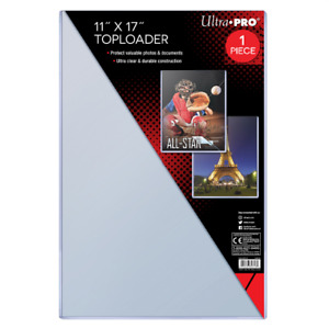 "(1) Ultra Pro 11"" x 17"" Toploader Memorabilia Artwork Poster Lithograph Holder"