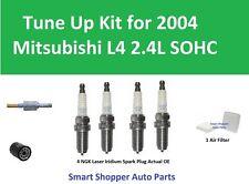 Tune Up Kit for 2004 Mitsubishi Galant L4 2.4L SOHC Air Filter, Oil Filter, PCV