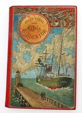 JULES VERNE. Clovis Dardentor. Hetzel 1896. Cartonnage percaline au steamer.