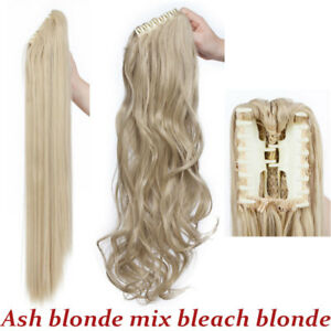 US Real Thick Claw Ponytail Hair Piece Clip in Hair Extension As Human Pony Tail