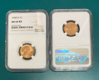 1958 D Lincoln Wheat Cent  NGC MS 66 RD