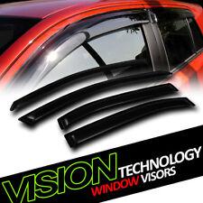 Rain/Wind Guard Dark Tint Shade Deflector Window Visors For 06+ Fusion/Milan/Mkz