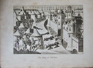 Froissart's Chronicles, Plate Volume, Illustrations, 58 plates, J. Cary Map