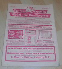 dachbodenfund zeitschrift süddeutsche möbel bau schreiner  heft 13 / 1929 alt