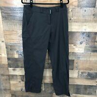 Exofficio Women's Black Flat Front Nylon Blend Hiking Pants Size 12