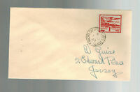 1943 Occupied Jersey Channel Island addressed fdc first day cover Allix De Gruch