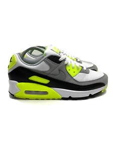 Nike Air Max 90 OG Volt Athletic Shoes Volt Grey Black CD0881-103 Men's Size 9.5