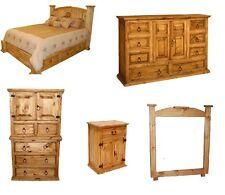 Rustic Western 5pc Mansion Storage Bed Bedroom Set King Size