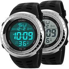 Herren Damen Armbanduhr Quarzuhr Digitaluhr Wasserdicht Sportuhr Silikon Uhr