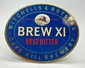 M & B BREW XI BITTER VINTAGE METAL PUMP CLIP - BEER HOME BAR BADGE BITTER
