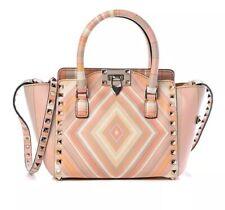Authentic Valentino Garavani Rockstud Vitello Leather Zippy Tote Small Bag