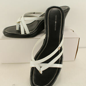 "Tommy Hilfiger Women Slides Heels Shoes Sizes 7M Sandal 2"" Wedges Leather"