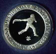 Spanien 2000 Pesetas 1990 Pelota Olympische Spiele 1992 Silber PP