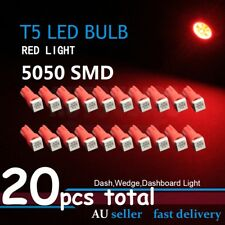 20pcs T5 5050SMD Angle Red LED Light Auto Dash Wedge Gauge Dashboard Bulbs Globe