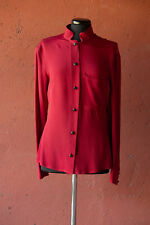 GIANFRANCO FERRE camicia rossa maniche lunghe tg 46 red woman shirt