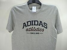 adidas Cotton Blend Patternless Graphic T-Shirts for Men