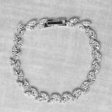 2 Carats Diamond Marquise Tennis Bracelet 14K White Gold Finish Halloween