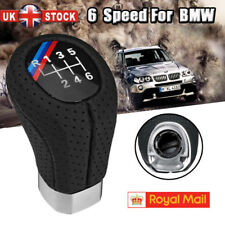 6 Speed Gear Shift Knob Leather For BMW 1 3 5 6 Series E46 E60 E87 E90 E91 E92