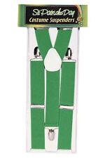 St. Patrick's Day - Adult Green Irish Suspenders