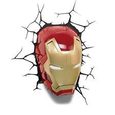 Marvel AVENGERS Assemble IRON MAN Mask / Helmet 3D FX Deco Wall LED Night Light
