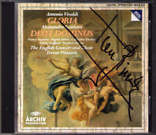 Trevor PINNOCK Signiert VIVALDI Gloria SCARLATTI Dixit Dominus CD Nancy ARGENTA