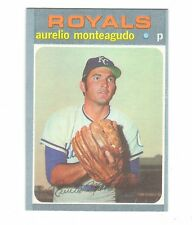 1971 TOPPS BASEBAL # 129 AURELIO MONTEAGUDO BLACKLESS VERY RARE