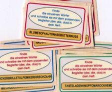 Wörterketten, sehr gute Lese-Lernkarten, Freiarbeit neu
