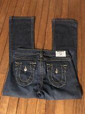 True Religion Becky Dark Wash Boot Cut Low Rise Jeans 28 Waist 27 Inseam