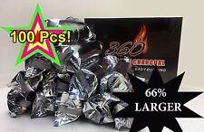100 Pcs 40 MM LARGE Hookah Charcoal EASY LITE Coal Incense King Fakher