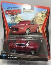 "2010 / 2011 Disney Pixar CARS 2: ""CARLO MASERATI"" (#25) Error Card - Brown Eyes"