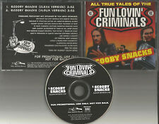 FUN LOVIN CRIMINALS Scooby Snacks w/ RARE CLEAN TRK PROMO DJ CD Single 1996 MINT