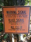 Used Warning Dignal Blast Signal Highway Construction Road Sign