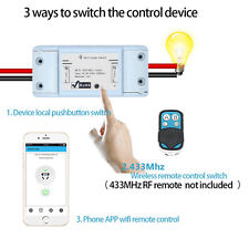 Home Smart Remote Control  WiFi ABS Socket Wireless Timer Switch IOS/Android