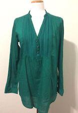 Zara Machine Washable Solid Button Down Shirt Tops for Women