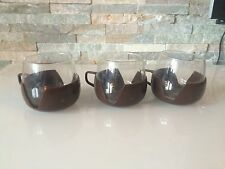 3 Stück Paket Set Teetassse Tasse braun Retro Vintage (1609DE1)