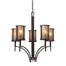 Arts craftsmission style brass chandeliers ebay elk lighting barringer aged bronze 29 inch 5 light chandelier aloadofball Images
