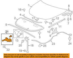 Chevrolet GM OEM 13-15 Traverse Hood-Lock Latch 23480394