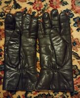 009 Vintage Finale Womans Gloves Brown Leather Size Large Winter