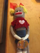 VTG  With Tags 2004 Spunky Sock Monkey Val T1