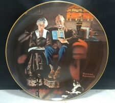Norman Rockwell plate by Edwin Knowles. Evening Ease Plate 5795B.