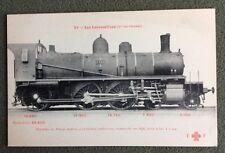 CPA. Locomotives. Cie de l'Ouest. Machine de Trains Mixtes. Construite En 1896.