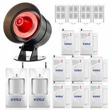 Wireless Sound&Flash Siren + 8 Door Sensors Alarm System for Home House Security