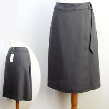 PER UNA Tencel Linen A-LINE Wrap SUMMER SKIRT ~ Size 12 or 14 ~ GREY