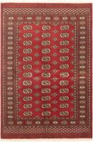 "Hand-knotted Carpet 4'1"" x 5'11"" Traditional Vintage Wool Rug"