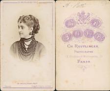 Reutlinger, Paris, Adelina Patti CDV vintage albumen carte de visite. Tira