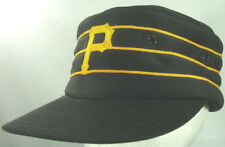 Pittsburgh Pirates Pillbox Snap Back Baseball Hat Cap Vtg Retro 7up Black Yellow