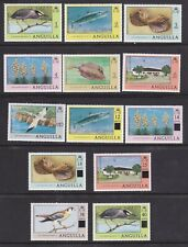 Anguilla 1977 1c to 6c & $10. 1979 Surcharge Set Mint Never Hinged
