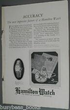 1924 HAMILTON Watch, pocket & wrist watch, New York Central RR tickets