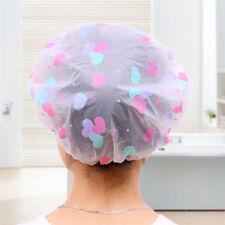 Women Waterproof Elastic Cute Dots Shower Bathing Salon Hair Cap Bathroom Hat
